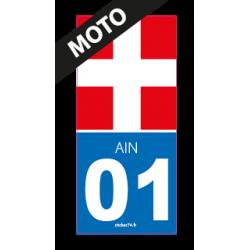 """Autocollant """"Croix Road 01"""" pour plaque moto"""