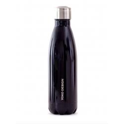 Bouteille isotherme 500 ml noir Yoko Design