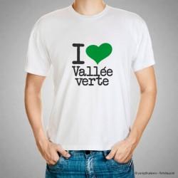 Tee shirt I love vallée verte