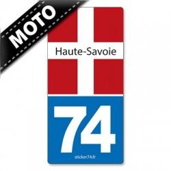 Autocollant plaque immatriculation moto