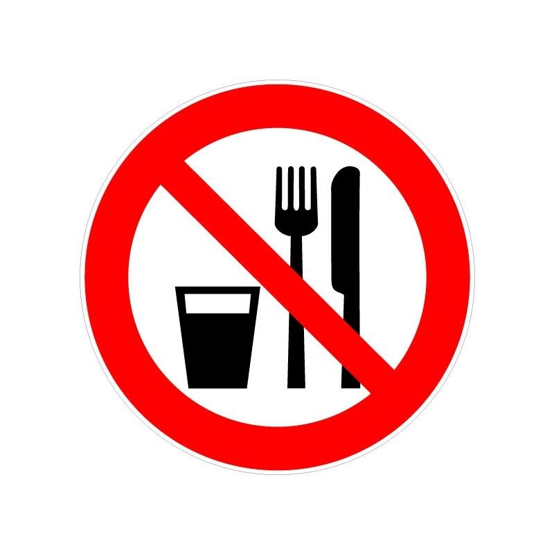 Panneau interdiction de manger et de boire - Panneau signalisation interdiction ...