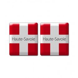 Autocollant plaque croix de Savoie doming
