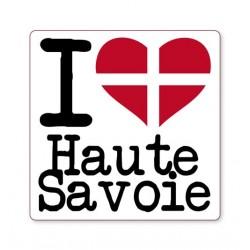Autocollant I love Haute-Savoie