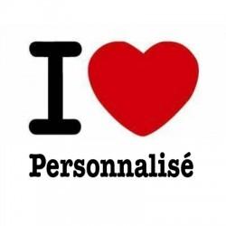 Tee-shirt personnalisé I Love