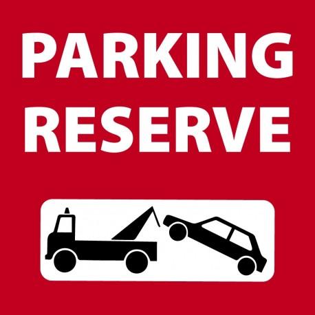Panneaux parking reservé