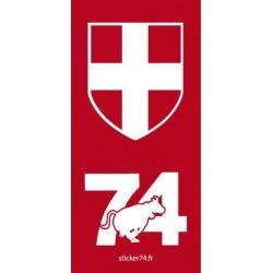 "Autocollant plaque ""Red"" 74 Haute-Savoie"