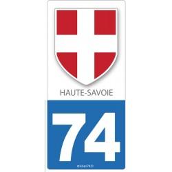 "Autocollant plaque ""Blason"" 74"