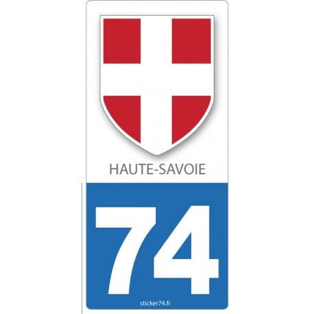 "Autocollant plaque ""Blason"" 74 Haute-Savoie"