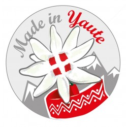 Autocollant edelweiss made in yaute