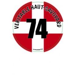 "Autocollant ""Véritable Haut-Savoyard"""