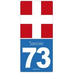 """Autocollant plaque immatriculation """"road"""" 73"""