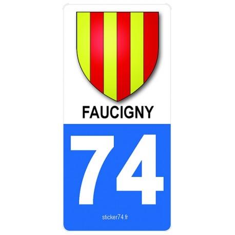 """Autocollant plaque immatriculation """"Road"""" Provinces de Haute-Savoie"""