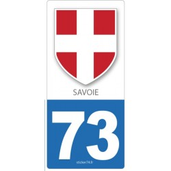 "Autocollant plaque ""Blason"" 73 Savoie"