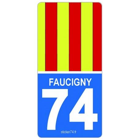 "Autocollant plaque immatriculation ""Road"" Faucigny"