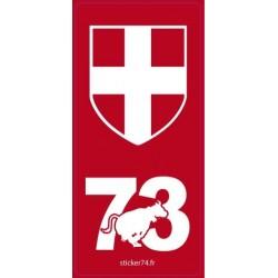 """Autocollant plaque """"Red"""" 73"""