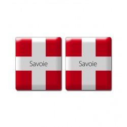 Autocollant croix de Savoie en doming