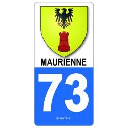 "autocollant plaque ""blason"" Maurienne"