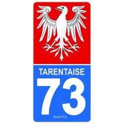 """Autocollant plaque """"Road"""" Province 73 Savoie"""