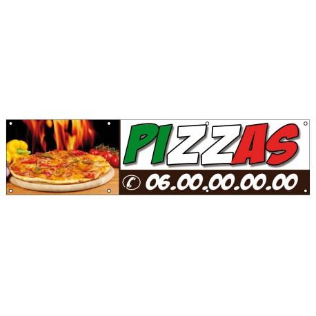 Banderole pour pizzeria