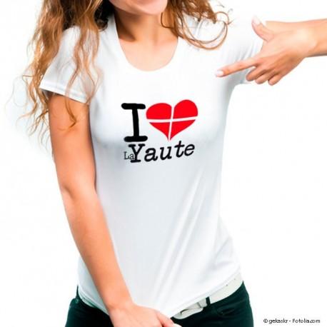 Tee shirt i love Haute-Savoie ou Savoie Femme