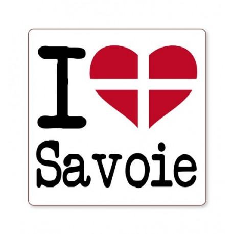 Autocollant i love Savoie