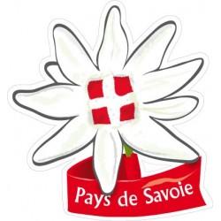 Autocollant Edelweiss Pays de Savoie