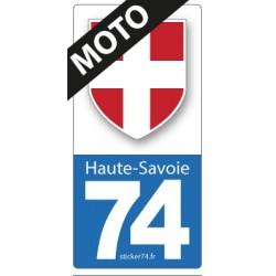 """Autocollant """"Blason"""" pour plaque moto"""