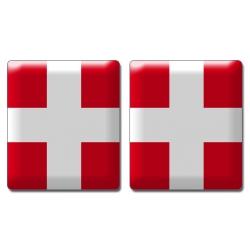 Autocollant croix de Savoie doming