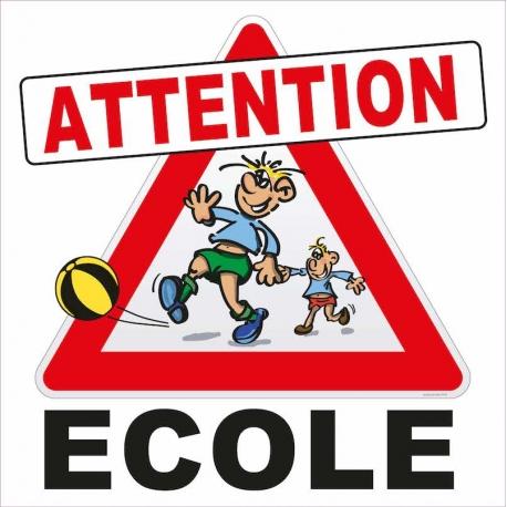 Sticker attention école