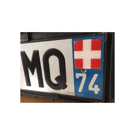Sticker croix de Savoie doming pour plaque