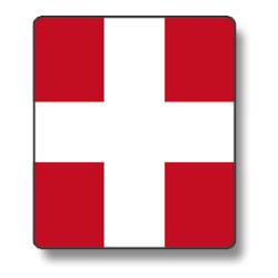 Croix de Savoie (sticker ou panneau)